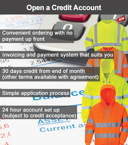 30 day credit account