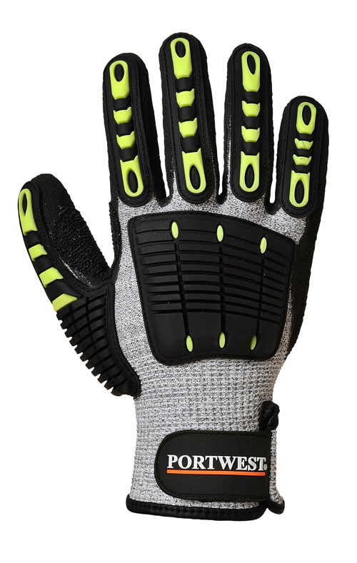anti impact cut resistant glove front