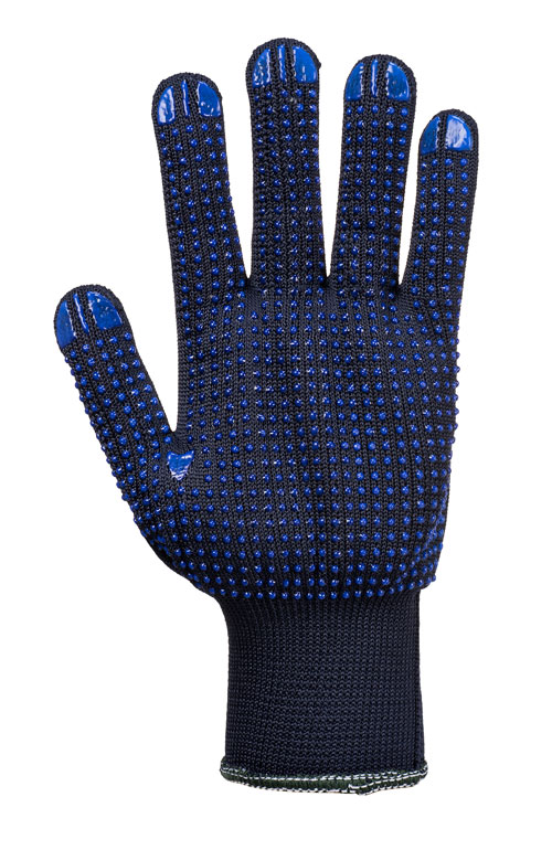polka dot glove blue