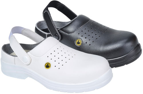 portwest compositelite ESD perforated safety clog