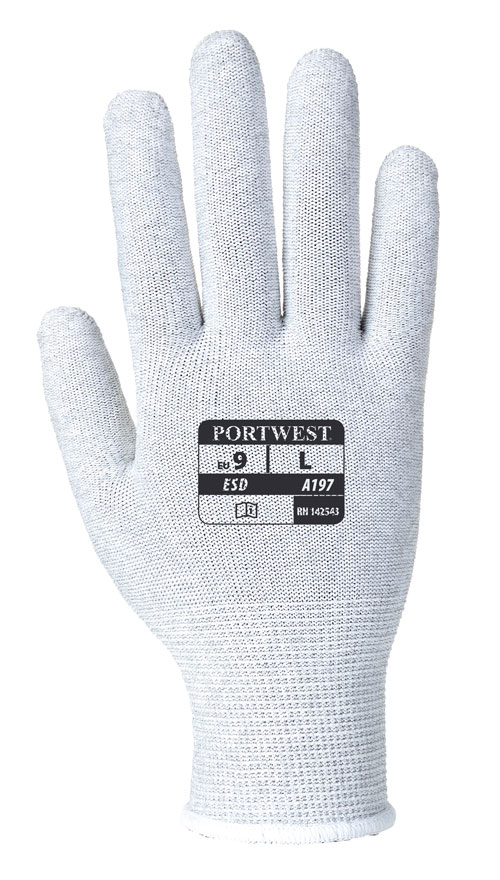 antistatic shell glove front