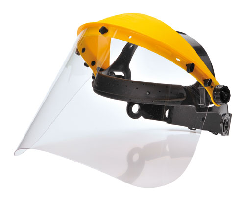 brow guard with clear visor
