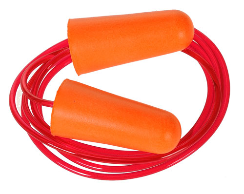 corded PU foam ear plugs