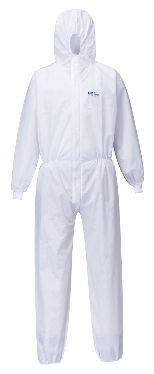 Biztex SMS Coverall with Knitted Cuff