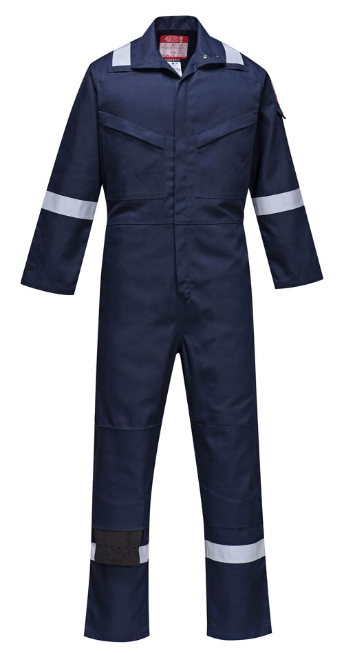 biz flame ultra coverall navy