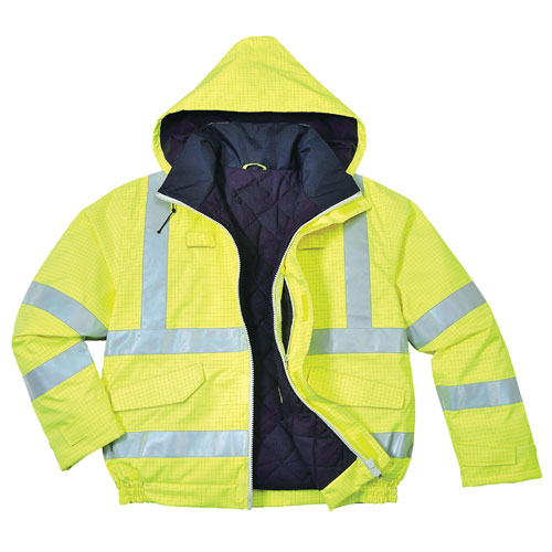 PORTWEST S776 Bizflame yellow or orange hi-vis flame resistant A//S body-warmer
