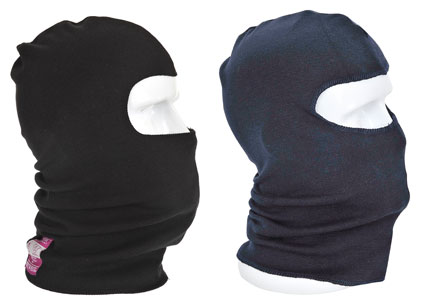 flame resistant anti-static balaclava black and navy