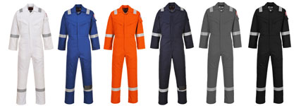 flame resistant coverall colours