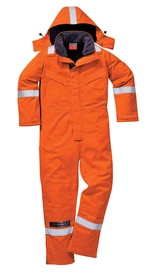 Flame resistant anti-static winter coverall