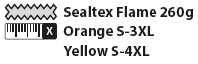 Sealtex Flame Jacket Sizes