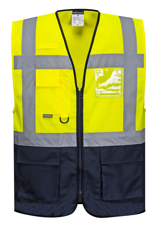 Warsaw Vest Yellow Navy