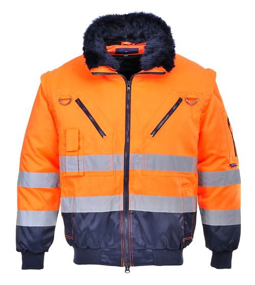 Hi Vis Pilot Jacket Orange