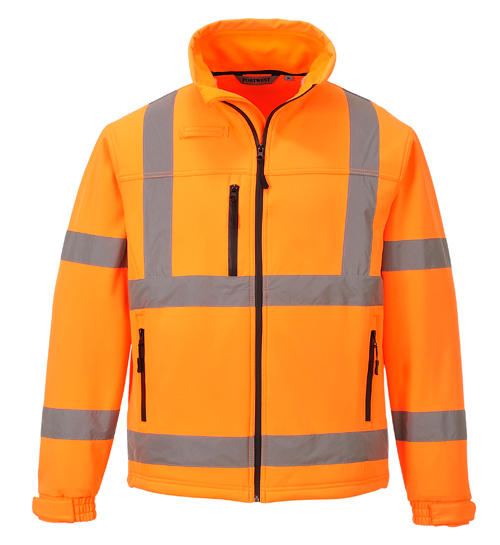 Hi Vis classic Softshell Jacket Orange