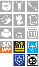 Hi Vis 7-in-1 Traffic Jacket Symbols