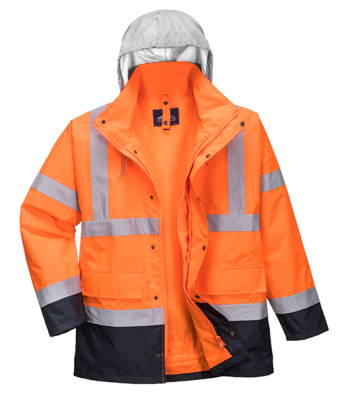 Hi Vis Contrast Traffic Jacket Orange