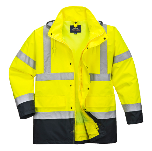 Hi Vis Contrast Jacket Yellow
