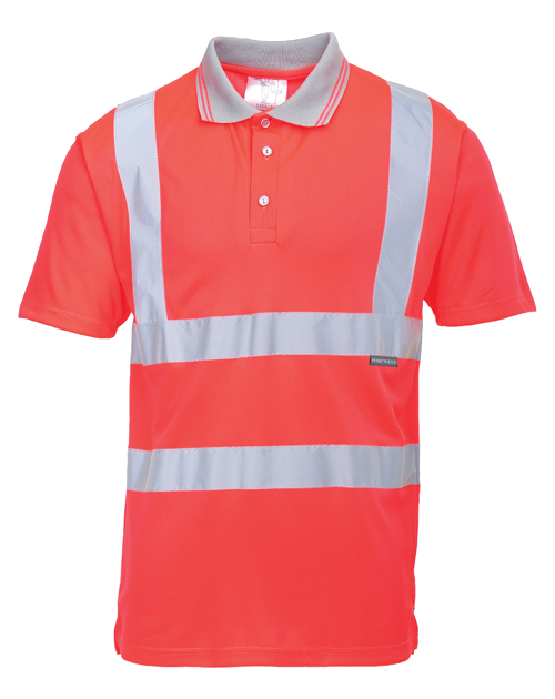 Hi Vis Polo Shirt Red