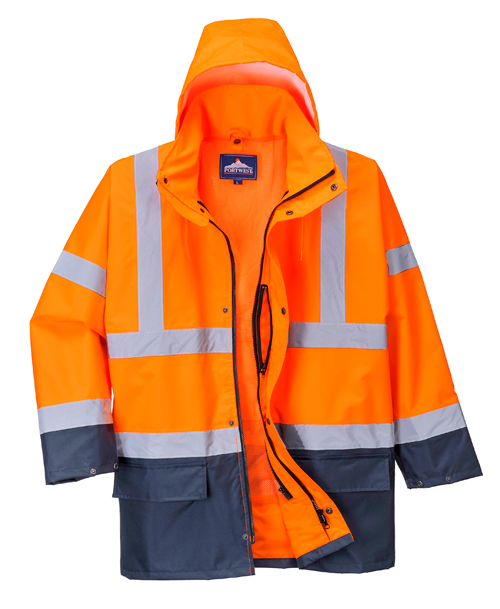 Hi Vis Traffic Jacket Orange
