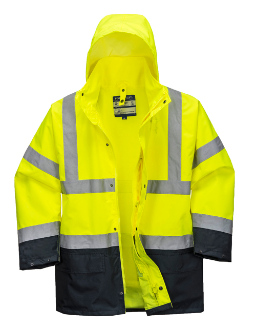 Hi Vis Traffic Jacket Yellow