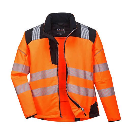 Vision Hi Vis Softshell Jacket Orange