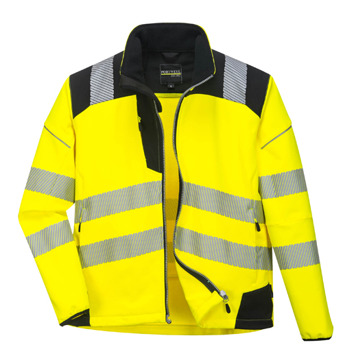 Vision Hi Vis Softshell Jacket Yellow