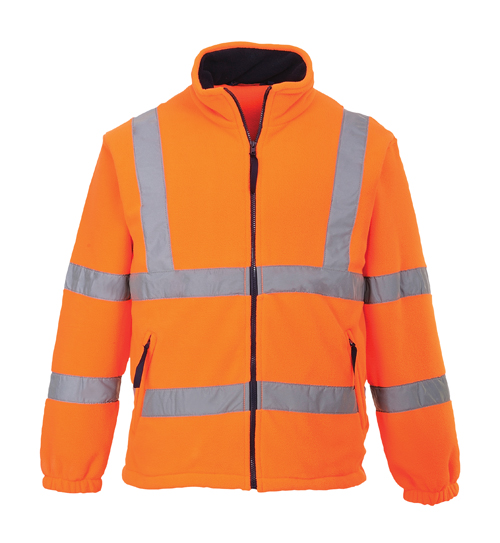 HI Vis Mesh Lined Fleece Orange