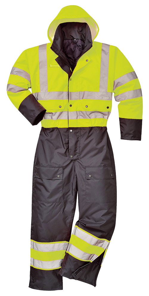 Hi Vis Contrast Coverall Yellow