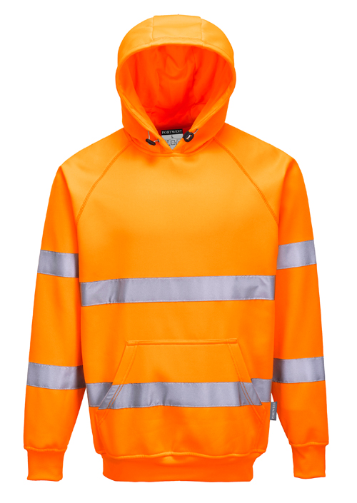 Hi Vis Hooded Sweatshirt Orange