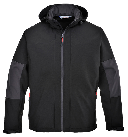 Soft-shell with Hood Black