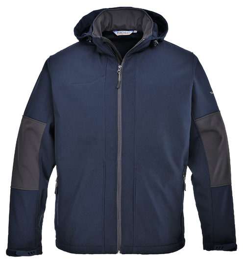 Soft-shell with hood navy
